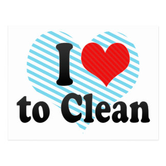 I Love to Clean Post Card