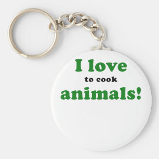 I Love to Cook Animals Keychains