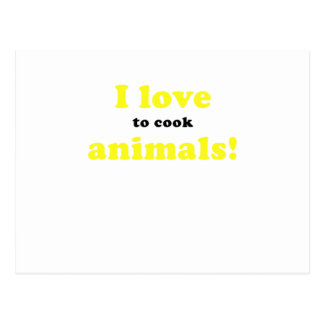 I Love to Cook Animals Post Cards