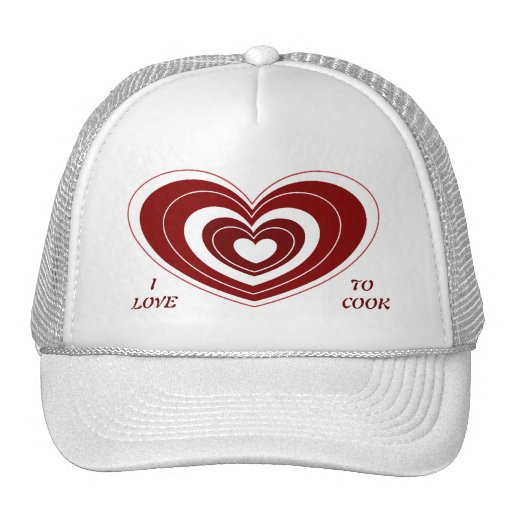 I LOVE TO COOK Hat