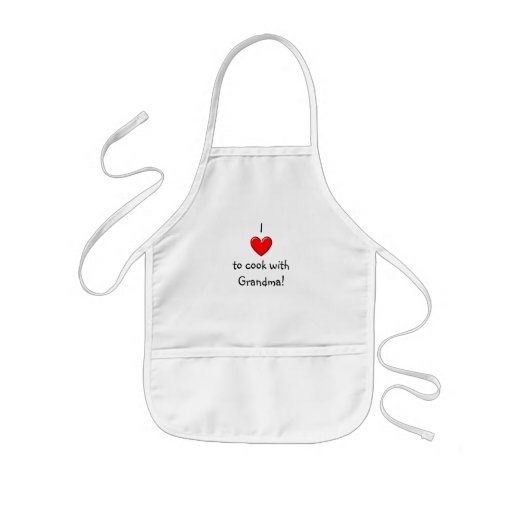 I love to cook with Grandma apron Apron