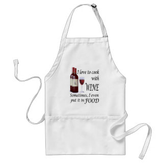 I Love To Cook With Wine - Even In Food Standard Apron