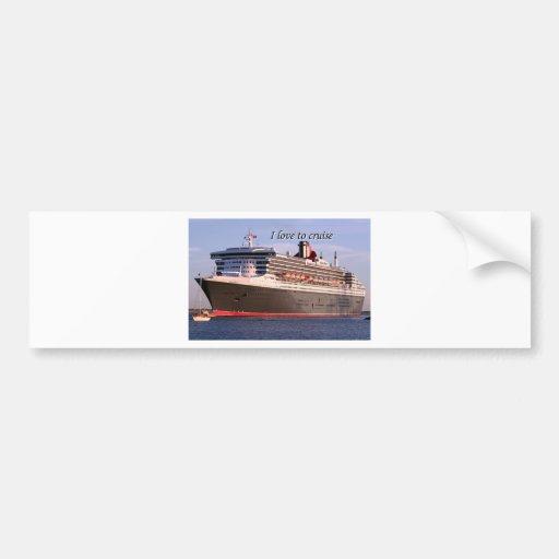 I love to cruise: cruise ship bumper sticker
