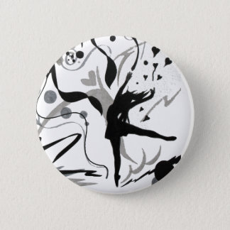 I Love To Dance 6 Cm Round Badge