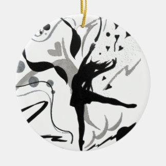 I Love To Dance! Ceramic Ornament