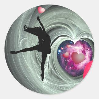 I Love To Dance! Round Sticker