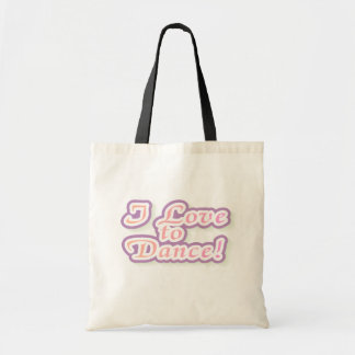 I Love to Dance Tshirts and Gifts Canvas Bag