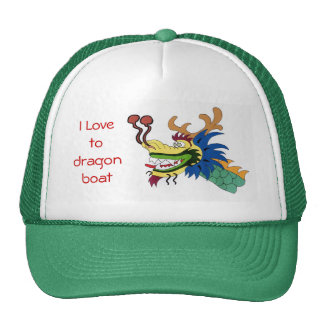 I Love to dragon boat Cap