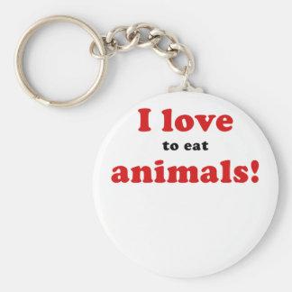 I Love to Eat Animals Keychain