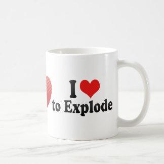 I Love to Explode Mugs