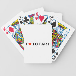 I LOVE TO FART BICYCLE PLAYING CARDS