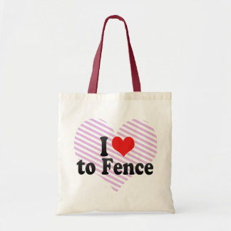 I Love to Fence Bags