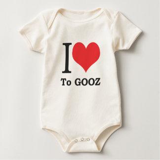 I Love to Gooz, Baby! (Organic fabric) Baby Bodysuit