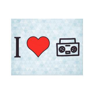 I Love To Hear Music Canvas Prints