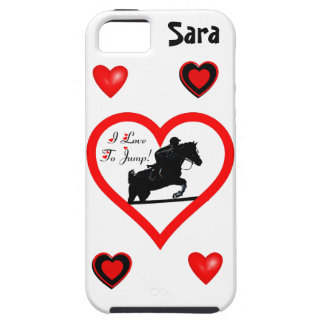 I Love To Jump! Heart with Horse iPhone 5 Case