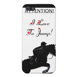 I Love To Jump! Horse 4/4S  iPhone 5/5S Cases