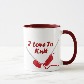 I Love To Knit Mug