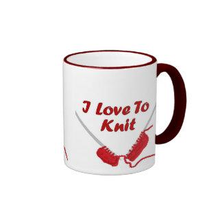 I Love To Knit Mugs