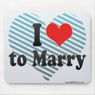I Love to Marry Mouse Pad