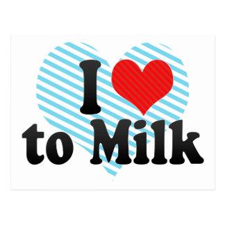 I Love to Milk Postcard