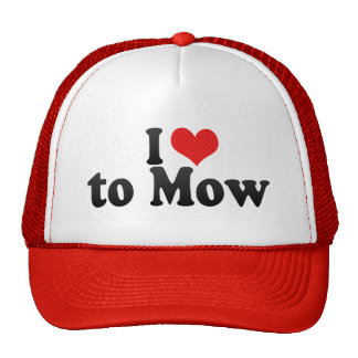 I Love to Mow Mesh Hat