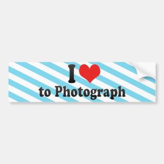 I Love to Photograph Bumper Stickers
