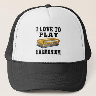 I Love To Play Harmonium Trucker Hat