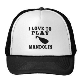 I Love To Play Mandolin Cap