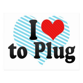 I Love to Plug Postcards