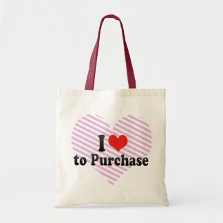I Love to Purchase Tote Bag