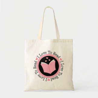 I Love To Read Book Lover Budget Tote Bag