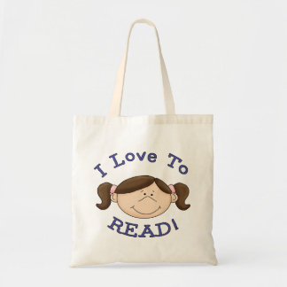 I Love to Read Girl Tote Bag