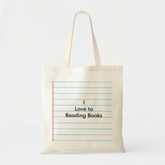"""""""I Love to Reading Books"""" Budget Tote Bag"""