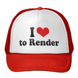 I Love to Render Trucker Hat