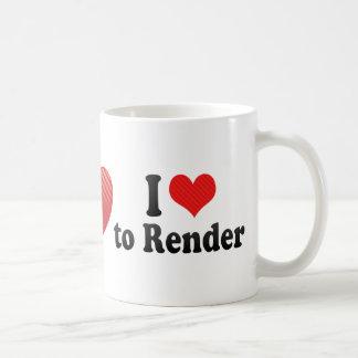 I Love to Render Mugs