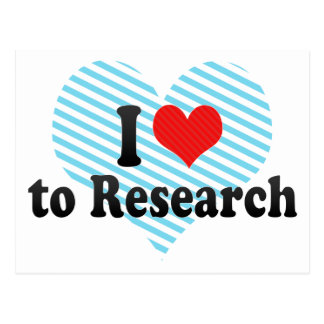 I Love to Research Postcard