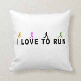 I Love To Run Cushion