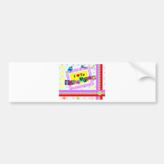 I Love to Scrapbook Bumper Sticker
