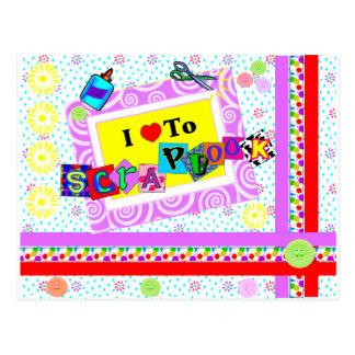 I Love to Scrapbook Postcard