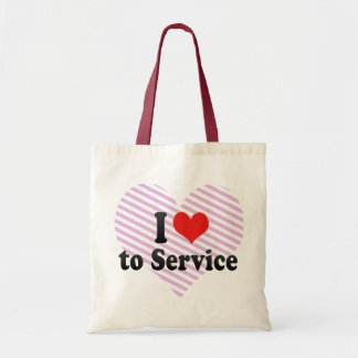 I Love to Service Canvas Bag