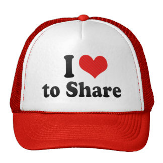 I Love to Share Mesh Hats