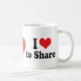 I Love to Share Coffee Mug