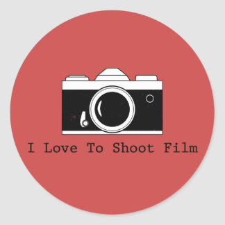 I Love To Shoot Film Classic Round Sticker