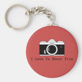 I Love To Shoot Film Key Ring