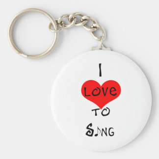 I Love To Sing Key Ring