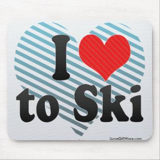 I Love to Ski Mouse Pad