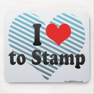 I Love to Stamp Mouse Pad