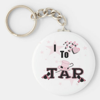 I Love to Tap Dance Basic Round Button Key Ring