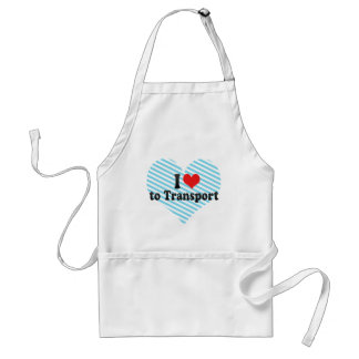 I Love to Transport Aprons