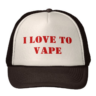 I love to vape trucker hat